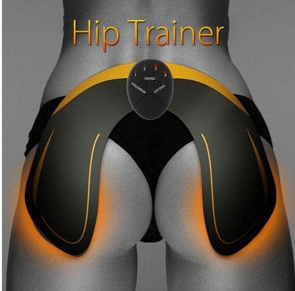 Electric Hip Trainer Muscle Stimulator Trainer EMS Abdominal Muscle Exerciser Hip Trainer Smart Fitness Body Slimming Machine