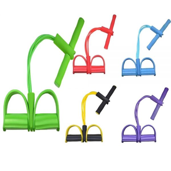 Pull Rope multi function tension rope Pedal Exerciser elastic bodybuilding fitness rope elastic yoga band Rubber resistence band