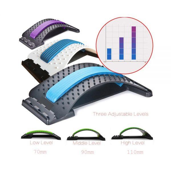 Équipement d'étirement masseur dorsal civière Fitness soutien lombaire Relaxation compagnon douleur vertébrale soulager le chiropraticien Messager