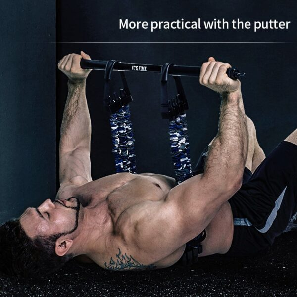 Resistance Band For Bench Barbell Push-Up Support Bracket Pull Arm Exercise Chest Muscle Training Fitness Equipment In Home Gym
