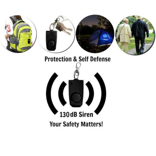Self Defense Alarm 130dB Girl Women Security Protect Alert wolf Personal Safety Scream anti rape Loud Keychain Emergency Alarm