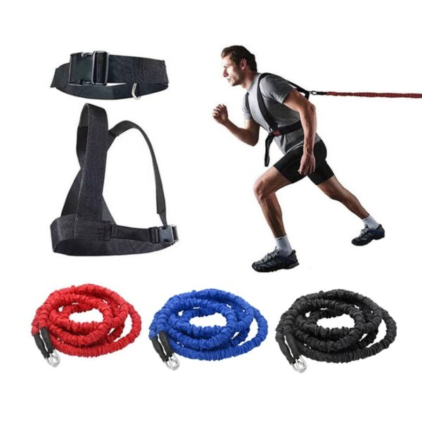 Double Running Explosive Force Jumping Fitness Equipment Double Resistance Band Training Pull Rope Field Track
