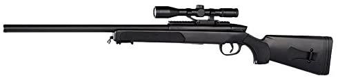 Pack complet Airsoft Sniper Swiss Arms Eagle/Sniper à Ressort/ABS/Rechargement Manuel (0.5 Joule)-Livré avec 600 Billes