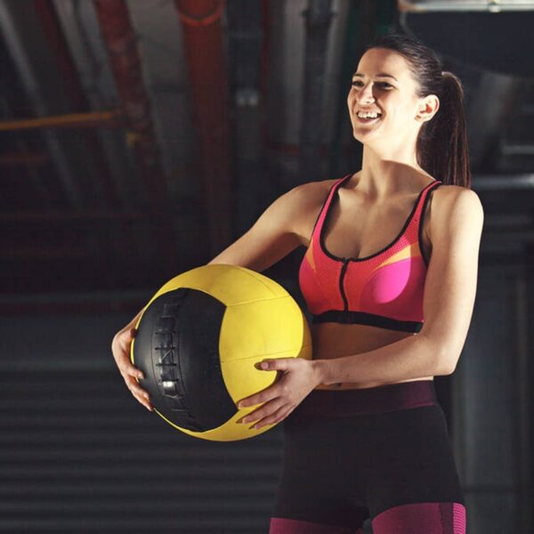 Crossfit Medicine Ball Home Fitness Wall Ball Exercise Weightlifting 35cm Empty