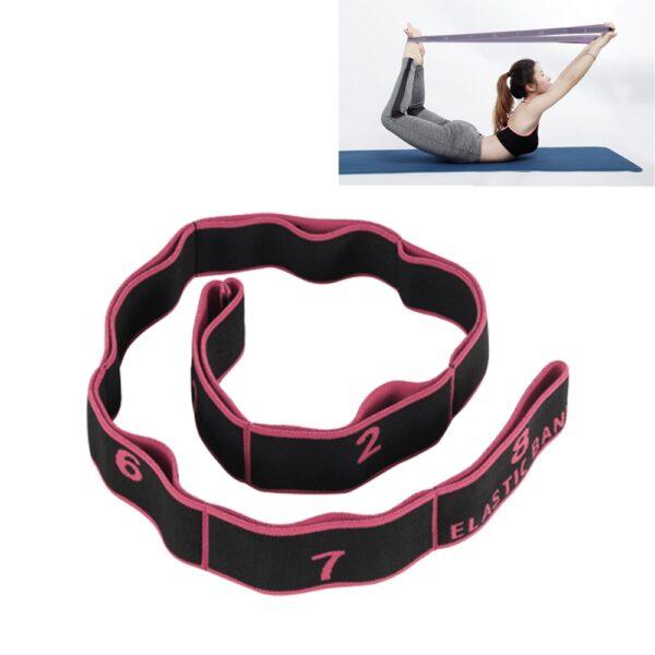Yoga Pull Strap Belt Professional Gymnastics Girl Latin Dance Stretch Resistance Band Pilates Training Belt Fitness Elastic Band