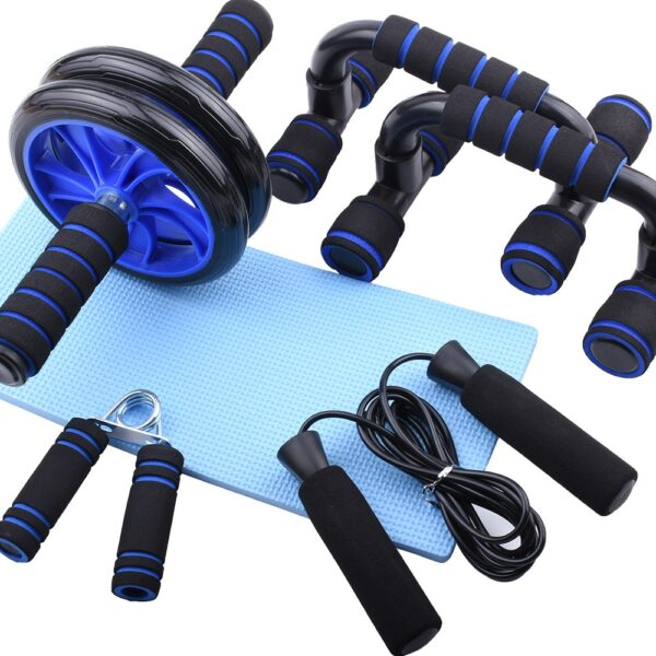 AB Roller Kit with Push-Up Bar & Grips & Jump Rope for Home Gym Abdominal Muscle Exercise Fitness Equipment Workout Wheel
