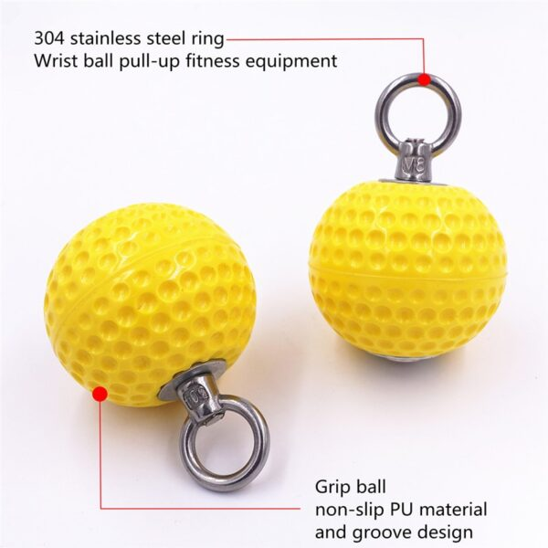 7.2cm Pull Up Balls Cannonball Grips for Finger Trainer Grip Strength Training Arm Muscles Barbells Gym Hand Grip Ball Exerciser