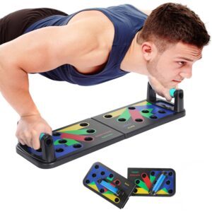 9 in1 Push Up Rack Board Home Gym Comprehensive Exerciser Foldable Adjustable push up Rack Stand Body Building Fitness Equipment