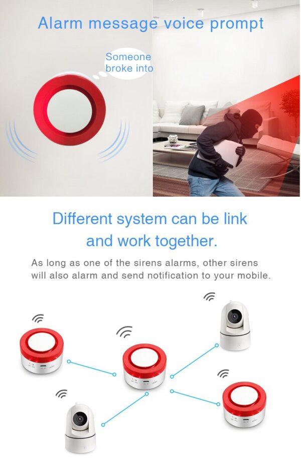 Tuya Smart WiFi Home Security Alarm System Gateway Wireless Burglar Alarm System work with Alexa Google Home IFTTT Voice Control