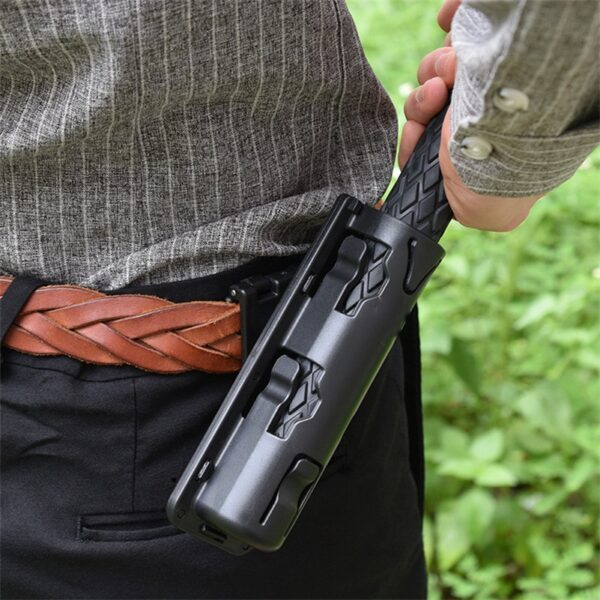 New Universal 360 Degree Rotation Baton Case Holster Black Holder Self Defense Safety Outdoor Survial Kit EDC Tool
