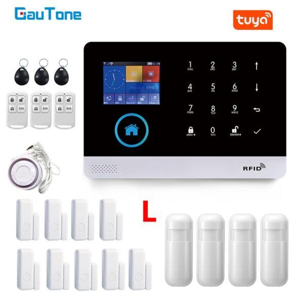 GauTone PG103 Alarm System for Home Burglar Security 433MHz WiFi GSM Alarm Wireless Tuya Smart House App Control